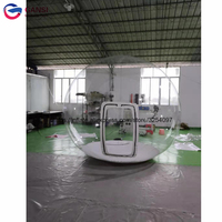 Approval waterproof inflatable bubble tent, 3m diameter transparent inflatable igloo tent for camping