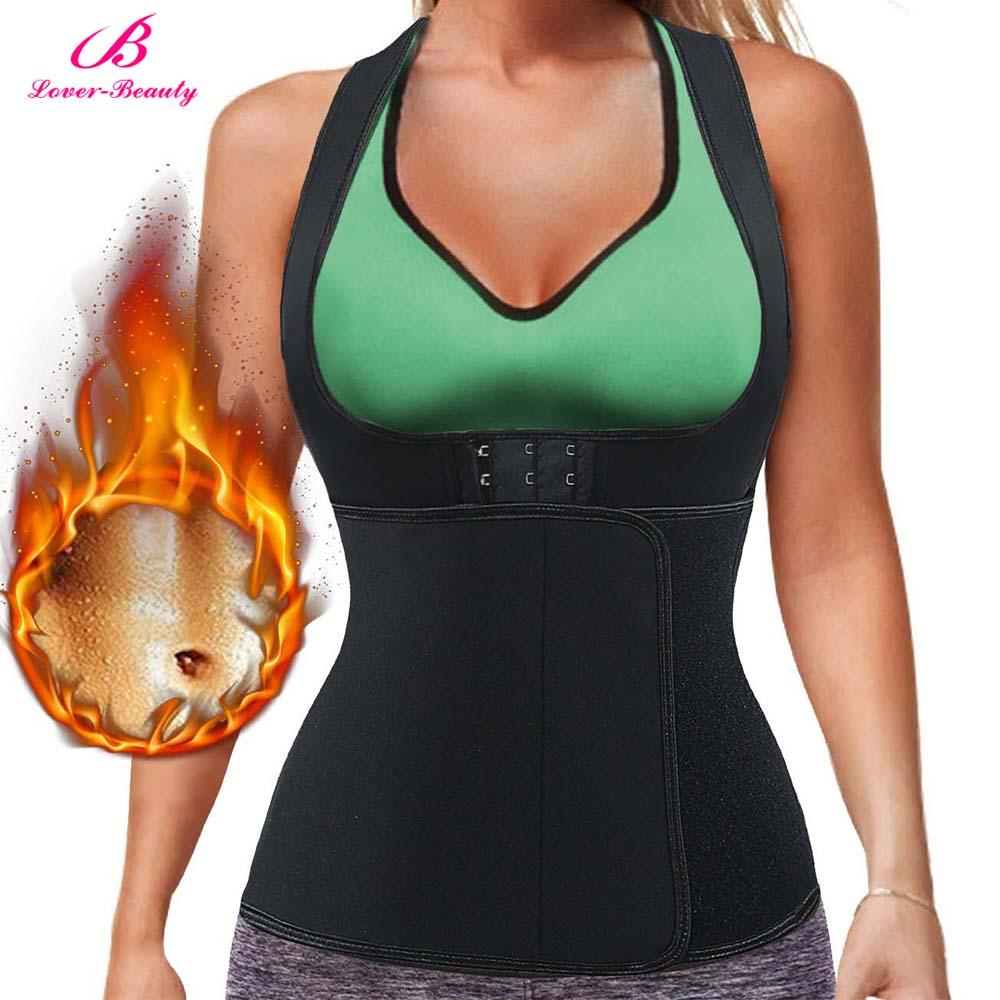 Lover Beauty Womens Shapewear Weight Loss Neoprene Sauna Sweat Waist Trainer Corset Top Vest Workout Slimming Body Shaper C