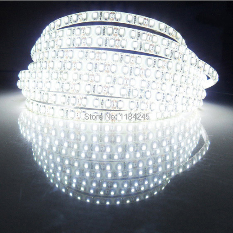 Super Bright 5M 2835 SMD 120led/m 600Leds White Warm White Flexible LED Strip <font><b>12V</b></font> Non-Waterproof free shipping image