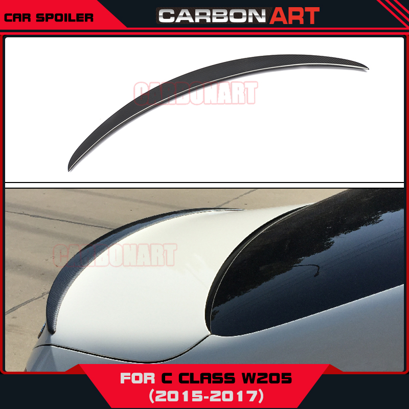 C Class W205 Carbon Rear Spoiler Wing for mercedes 4 Door Sedan A Style Fits Excellent Auto Car Parts carbon fiber car rear spoiler boot lip wing for mercedes w204 benz c class c200 c250 c300 c350 c63 amg sedan 4 door 2008 2013
