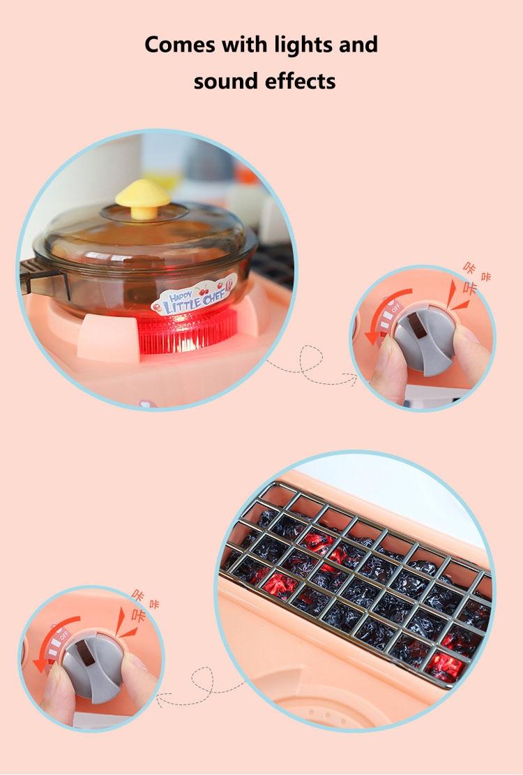 cozinha para crianças brinquedo de cozinha conjunto de jogos