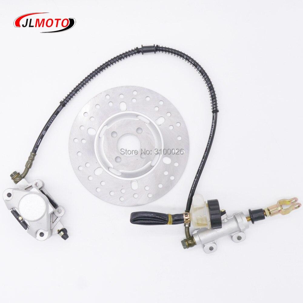 1Set ATV Rear Foot Hydraulic Disc Brake /70cm line/190mm Disc Fit For ATV 50cc 110cc Quad Bike Go Kart Buggy UTV Scooter Parts