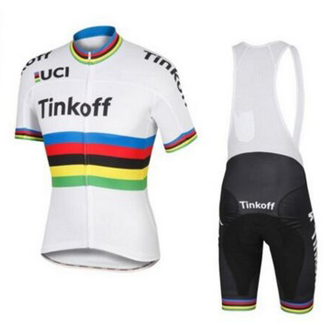 breathable 9D pad tinkoff cycling jersey set short sleeve bike wear mem team  2018 ae36cbd05