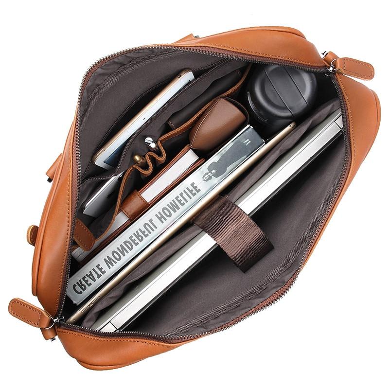 HTB1j3uBXifrK1RjSspbq6A4pFXav Nesitu Black Brown Genuine Leather Office Men Briefcase Messenger Bags Real Skin Business Travel Bag 14'' Laptop Portfolio M7349
