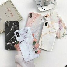 Взд Мрамор Case для iphone 7 XS MAX случае ТПУ Мягкая задняя крышка для iphone 6 6 S 7 8 плюс iphone X XR чехол для телефона