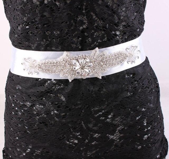 Exquisite Handmade Belt Crystal Rhinestone Pearl Beading Czech Stones Bridal Gown Sash Formal Wedding Evening Dress Belt