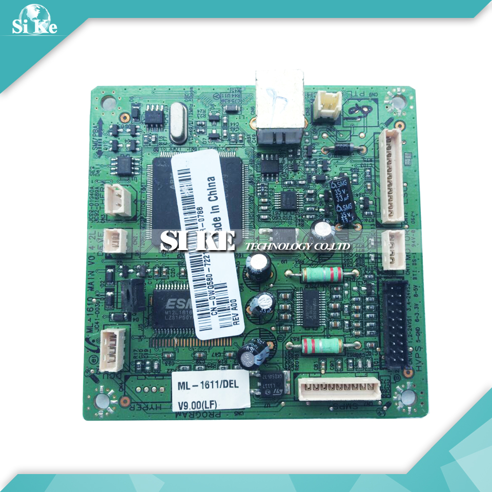 Laser Printer Main Board For Samsung ML-1610 ML-1611 ML1610 ML1611 ML 1610 1611 Formatter Board Mainboard Logic Board black laser printer bottle toner powder dust refill kit for samsung ml 1210d3 ml 1010 ml 1220 ml 1250 ml 1430 ml 1210 cartridge