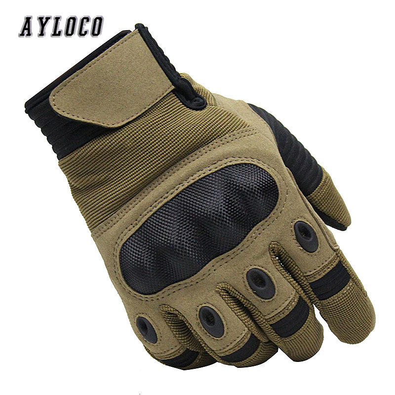 Tactical Military Gloves Paintball Airsoft Shooting Combat Anti-Skid Bicycle Hard Knuckle Full FingerTouch Scree Gloves