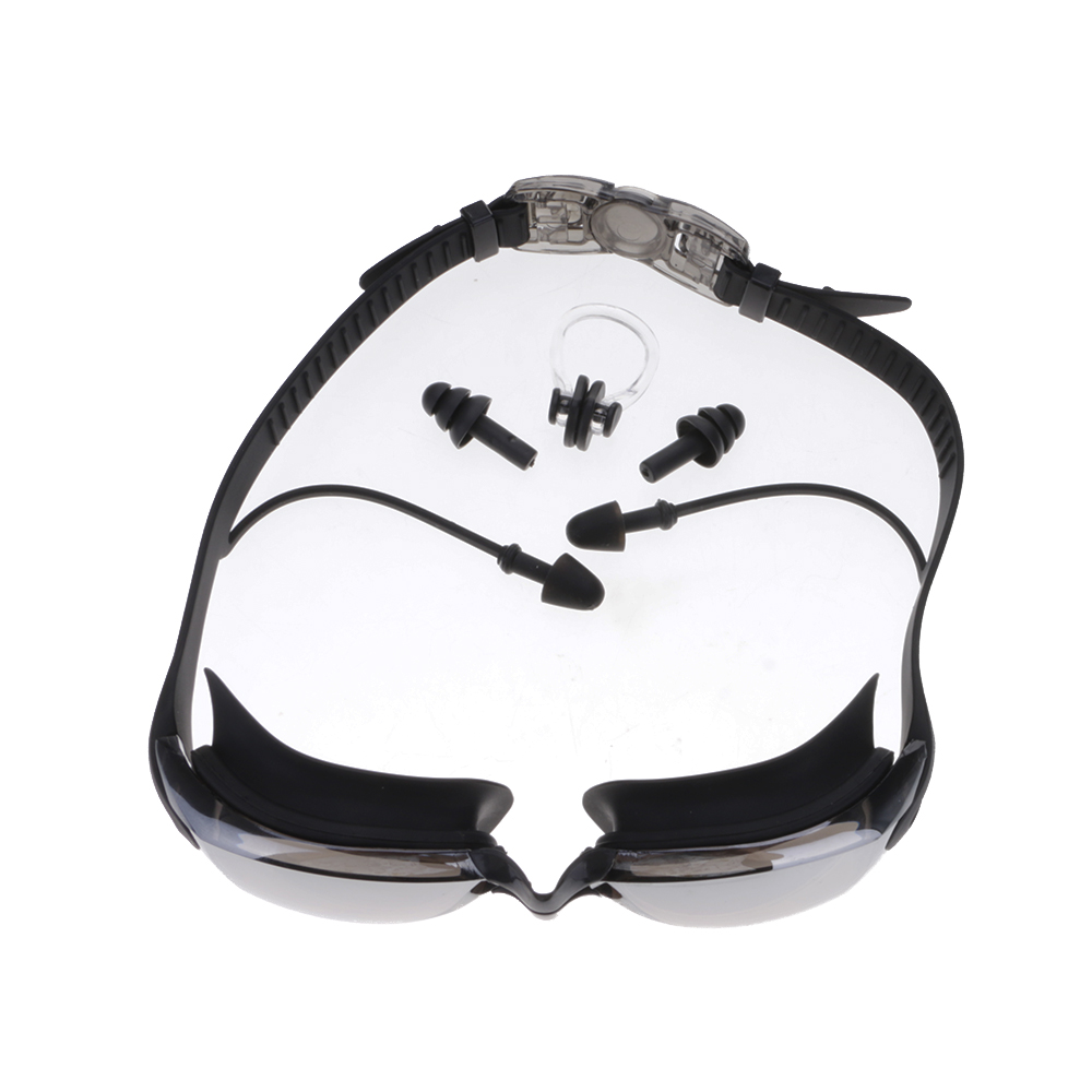 New UV Protection Waterproof Anti-fog PC Lens Electroplating Swimming Goggles