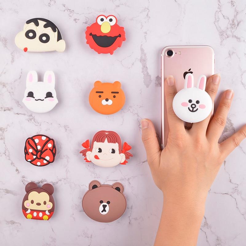 Global Phone Pocket Socket Ring Kids Grils Cute Cartoon Phone Holder Mobile Accessory Expanding
