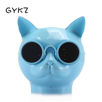 GYKZ Bluetooth Speakers Owl Dog Head Subwoofer Wireless Speakers With Coloured Lights Originality Metal Portable Loudspeaker Box