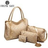 Freya Safi 4 Bag/Set New Mother Handbag Brand Designer Women Bag Letter Top Handle Bags Fashion Femal Bags Shoulder Bags