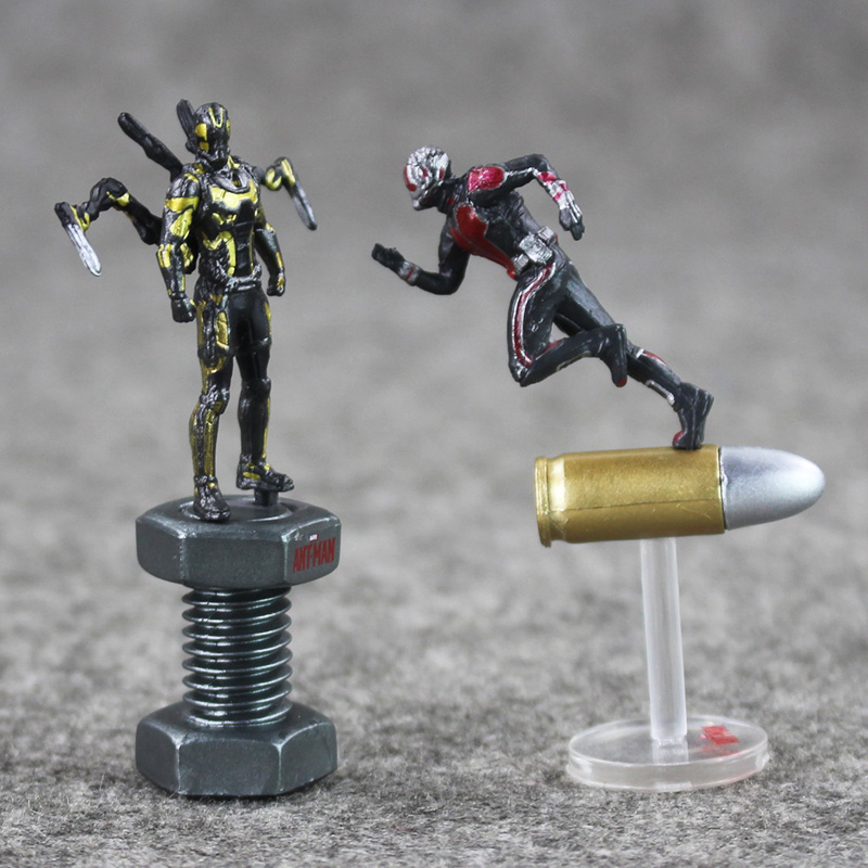 цена на Ant-man Yellowjacket Posed Character Figure Antman Cool 6.5cm Mini Model Toy for Collection