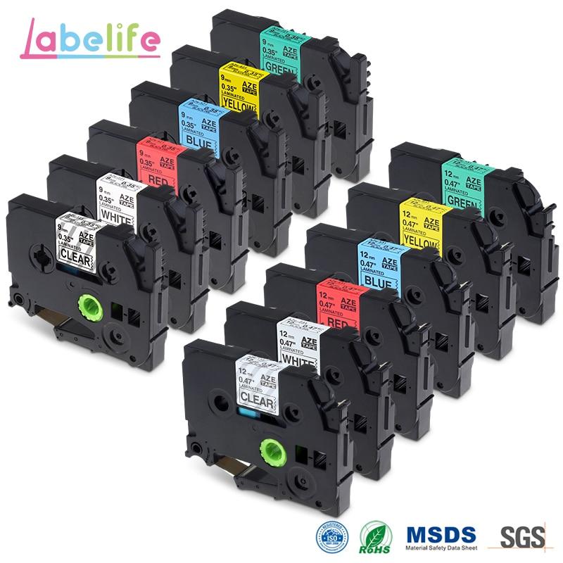 Labelife 12Pack 9mm 12mm TZe 121 221 421 521 621 721 TZe 131 231 431 531