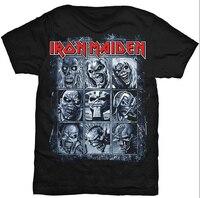2016 New Summer Top Men Women S Short Sleeve Hipster T Shirt Iron Maiden Heavy Rock