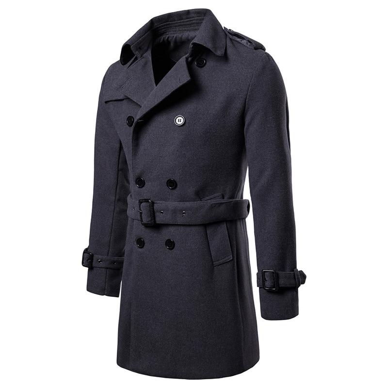 pea coat dark grey