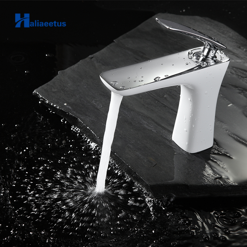 Basin Faucets Modern Style Bathroom Faucet Deck Mounted Waterfall Single Hole Mixer Taps Both Cold and Hot WaterBasin Faucets Modern Style Bathroom Faucet Deck Mounted Waterfall Single Hole Mixer Taps Both Cold and Hot Water