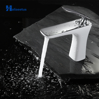 Basin Faucets Modern Style Bathroom Faucet Deck Mounted Waterfall Single Hole Mixer Taps Both Cold and Hot Water