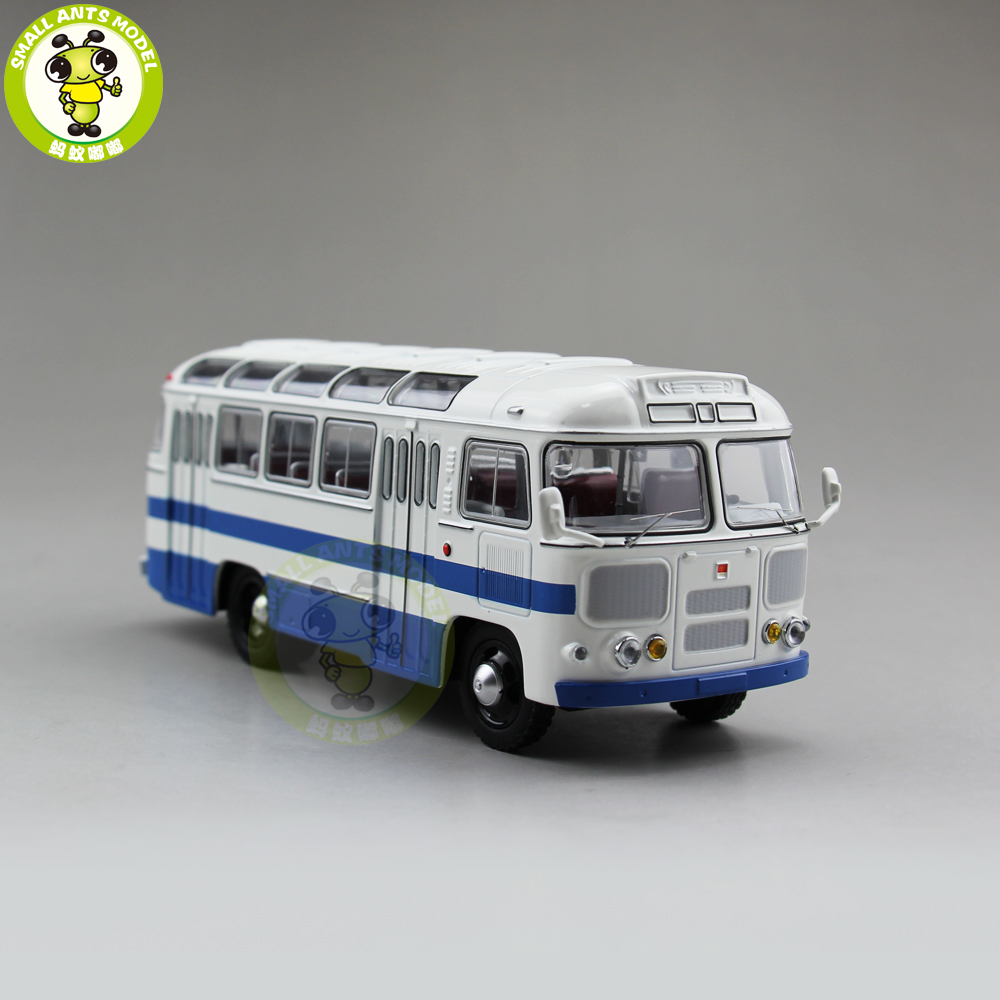 1/43 Classic PAZ 672 USSR Russia Soviet Union City Bus Coach Diecast Model Car Bus Kids Children Gift Collection Hobby Blue soviet bus stops