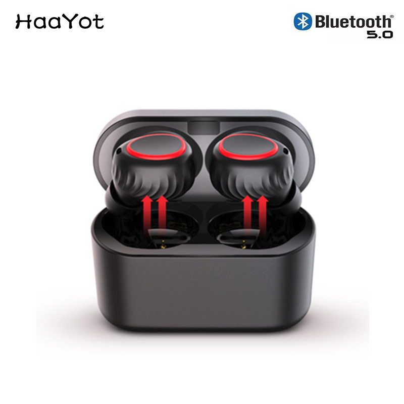 HAAYOT Best Bluetooth Headphones 5 0 Wireless Sport Earbuds With 20M 65ft Working Range Support Hands