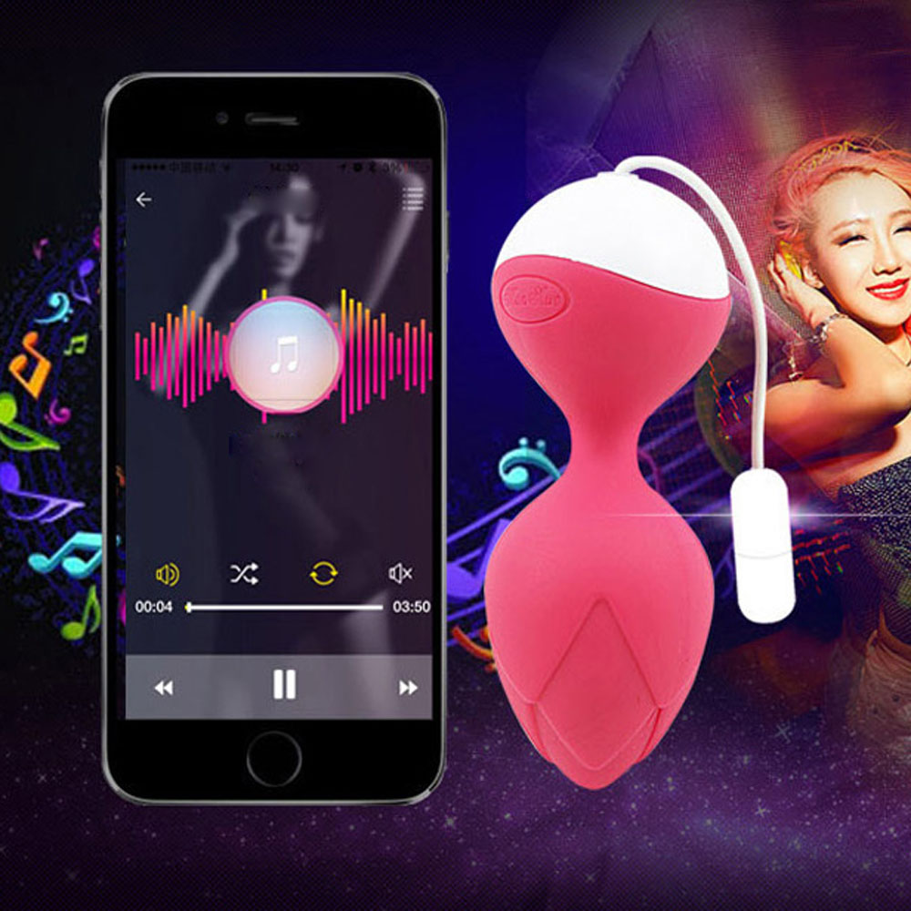 Silicone Women vibrator Kegel Balls Love Koro Ball for Vaginal Tight Exercise Bluetooth Wireless App Remote Control Vibrator new leten10speed waterproof liquid silicone intelligent remote smart vaginal balls kegel vaginal tight exercise machine vibrator