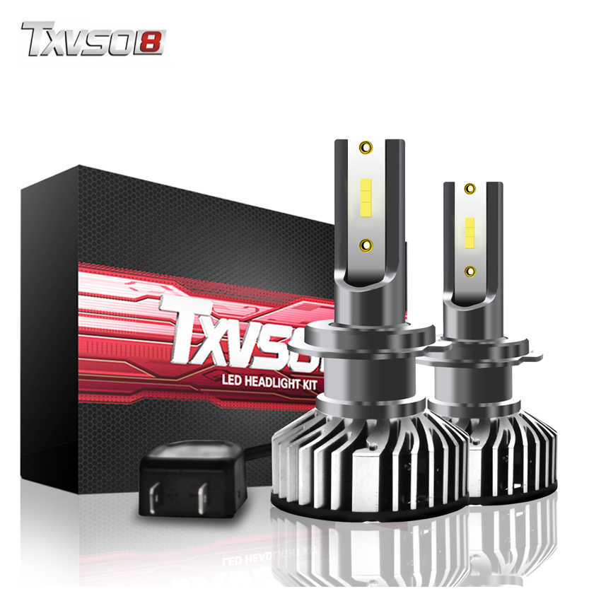 TXVSO8 H7 LED headlight bulbs 6000K CSP chips 10000Lm fog lights Tubor led lampen 12V H1 H4 H11 9005 9006 headlamp For Passat B6