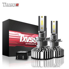 TXVSO8 H7 LED headlight bulbs 6000K CSP chips 10000Lm fog lights Tubor led lampen 12V H1 H4 H11 9005 9006 headlamp For Passat B6(China)