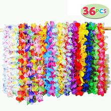 METABLE 36 Pieces Tropical Hawaiian Luau Flower Lei Party Favors for Baby Showers, Birthdays, send randomly