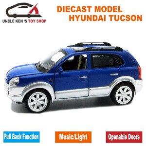 Image 2 - חדש לגמרי יונדאי טוסון הישן בקנה מידה Diecast דגם מכוניות, מתכת צעצועי מתנה לילדים עם פתיח דלת/למשוך בחזרה פונקציה