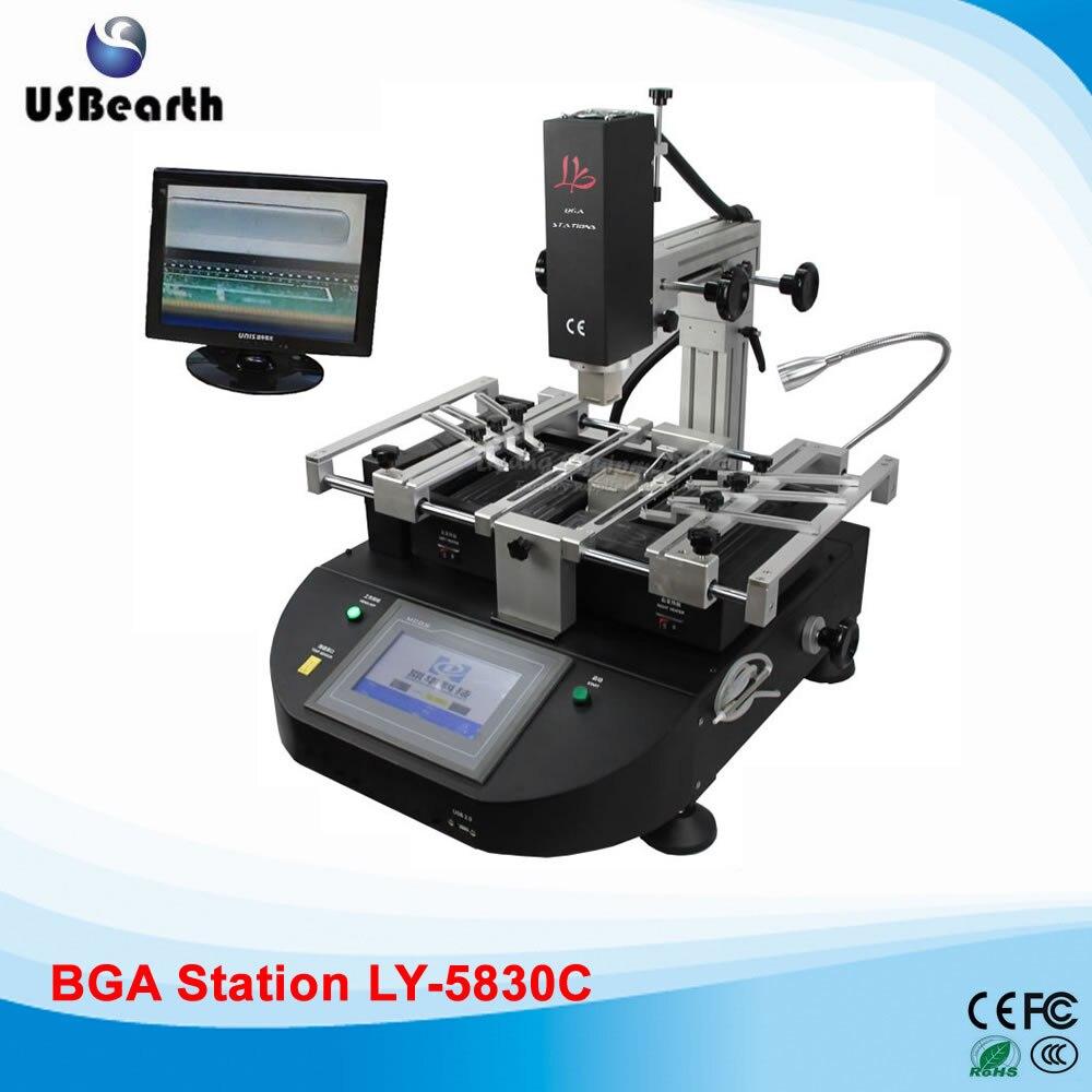 LY-5830C touch screen BGA Soldering station hot air 3 zones bga repair machine for Laptop Motherboard Chip Repair