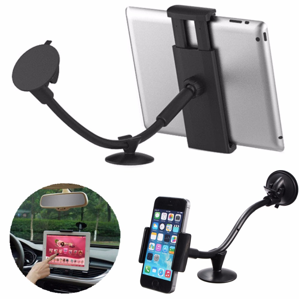 LP-3B 360 Rotating Flexible Arm 7 inch Car Windshield Mount Holder Tablet PC/Navigator/Smartphone Sucker Stand for iPad Air Mini Лобовое стекло