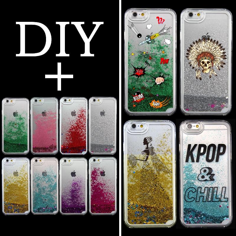 best website ceba2 0ec6d US $6.99 |Colorful Sparkle Star Liquid Hard Plastic Phone Case Custom Made  DIY Name LOGO For iPhone 6 6S 6PLUS 7 7PLUS 8 8PLUS X Samsung-in Fitted ...