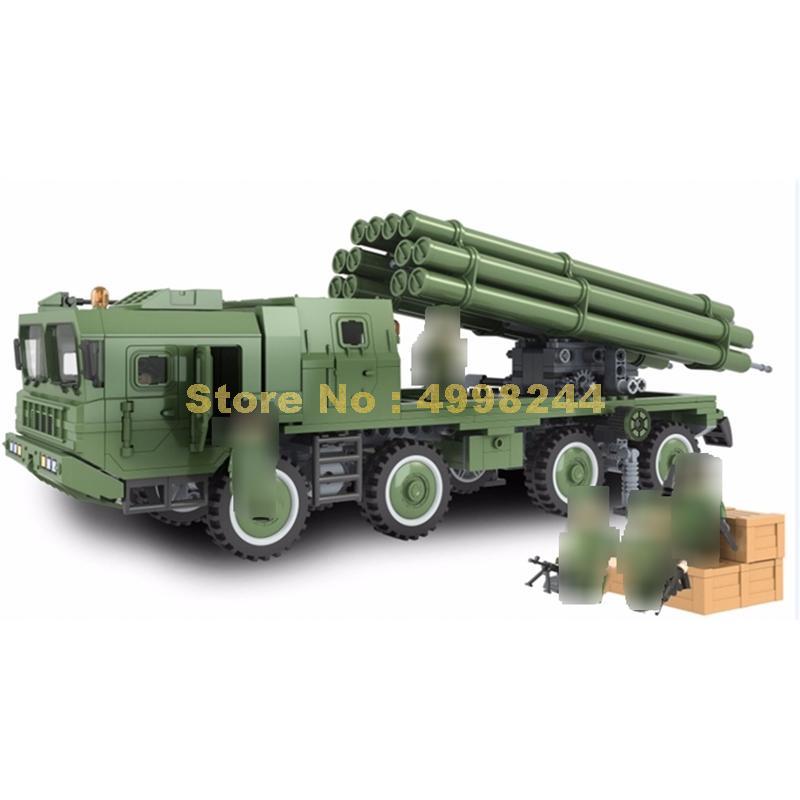 8012 613pcs military series 300mm rocket missile winner building block Bricks Toy