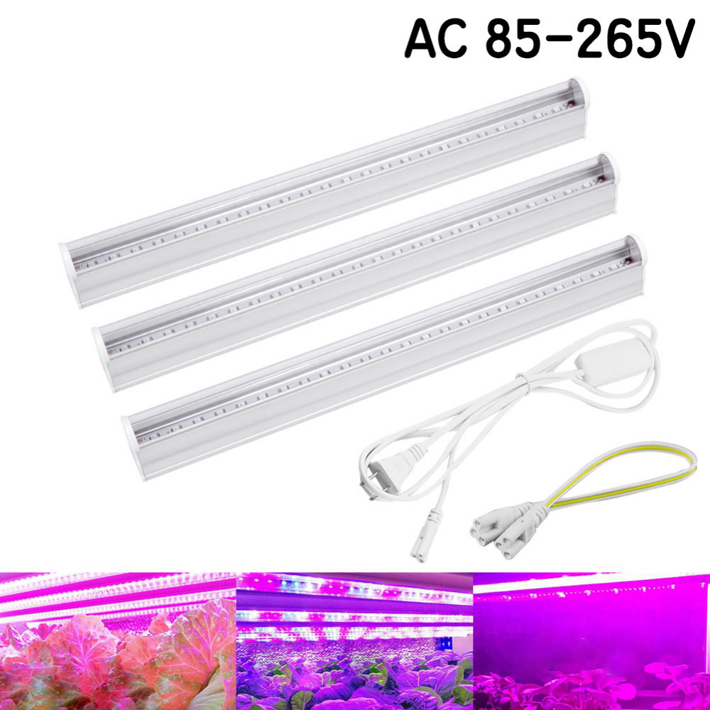 5W 10W 25W 50W IR UV CFL LED Full Spectrum Grow LightT T5 Tube Lampada Indoor Plant Lamp Hydroponics System Flowering Garden