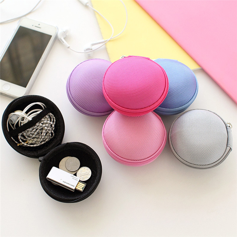 New Colorful SD Hold Case Storage Carrying Hard Bag Box Case for Earphone Headphone Earbuds memory Card Caja de storage bag