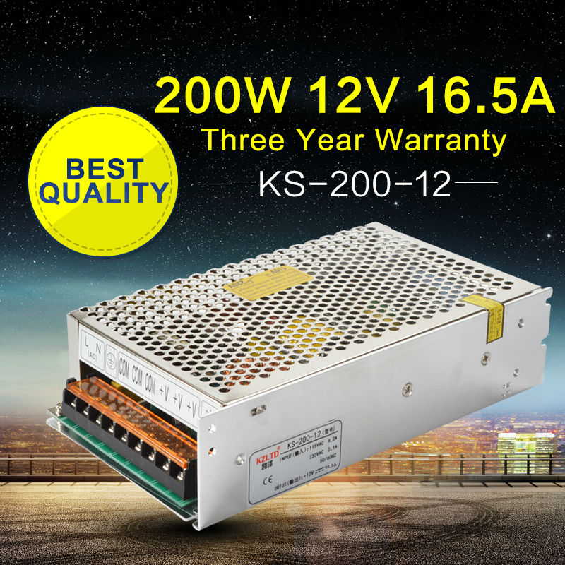 LED Power Supply 12V 200W LED Driver Adapter AC to DC Transformers for LED Light Building Lighting CCTV Camera High Efficiency ac dc switching power supply 12v 15w 220v 110v to 12v dc adapter for led display led string led sign high efficiency mini size