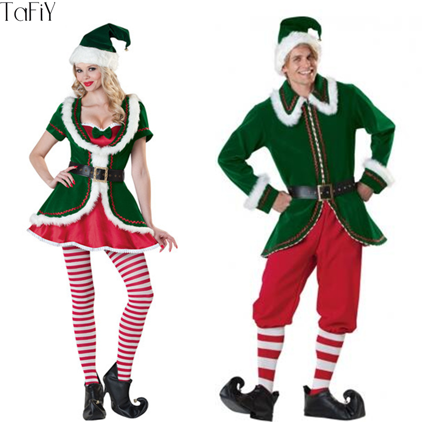 ADULTS GREEN AND RED ELF TIGHTS CHRISTMAS FANCY DRESS ACCESSORY JOKER JESTER 36b5afad74e
