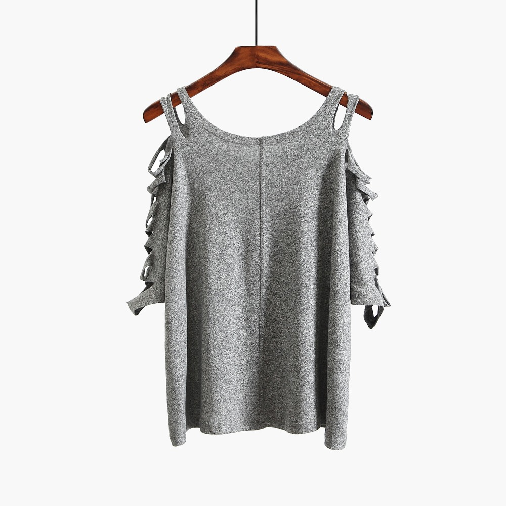 Autumn new 2018 crop top t shirts hot sale long sleeve solid short t-shirts for women clothing fashion loose t-shirt