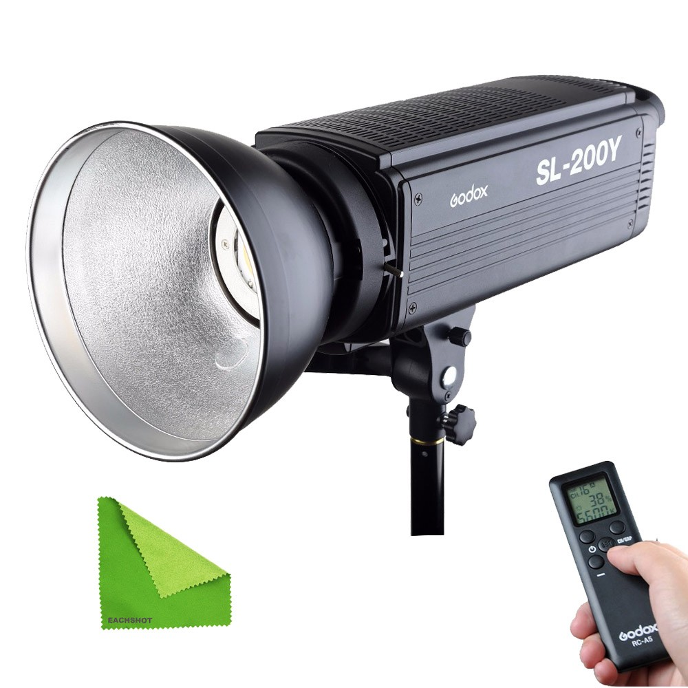 Godox SL200Y 200W Studio Continuous LED Video Light 3300K-5600K Photographic Lighting Bowens Mount Photography lamp With Remote цена