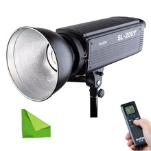 Godox SL200Y 200W Studio Continuous LED Video Light 3300K-5600K Photographic Lighting Bowens Mount Photography lamp With Remote цена и фото