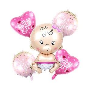 Image 2 - 5 pçs/lote balões folha BEBÊ é um MENINO MENINA balões de hélio para a festa de aniversário do chuveiro de bebê decoração menina ar balao brinquedos clássicos