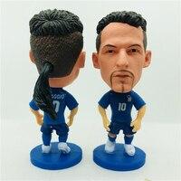 Kit keychais 60 pcs Soccerwe Roberto Baggio Doll Italy 10# National Team Blue Kit