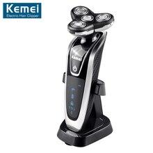 Original Kemei-8871 Washable Rechargeable Electric Shaver Triple Blade Electric Shaving Razors Men Face Care 3D Floating
