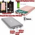 Baseus 10000 mah powerbank banco de la energía 10000 mah cargador de teléfono portátil 5 v 2.1a 2 puertos para iphone ipad huawei meizu tablet