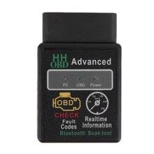 Mini ELM327 V2.1 Bluetooth HH OBD Advanced OBDII OBD2 ELM 327 Car Diagnostic Scanner code reader scan tool for Android.Windows