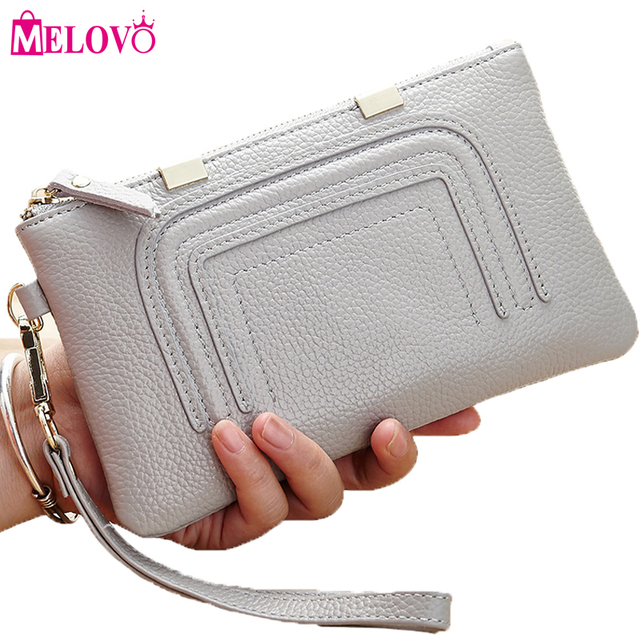 74519e4862e2 MELOVO Fashion Day Clutches Women s Leather Handbags Coin Purse Mobile  Phone Bag Clutch Bag iphone7 Case 8630