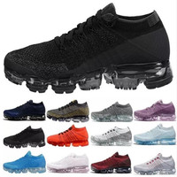 2018 New Air Vapormax Flyknit Men's Women Max 2018 Running Shoes Sports Sneakers Outdoor Athletic Running shoes 36 45