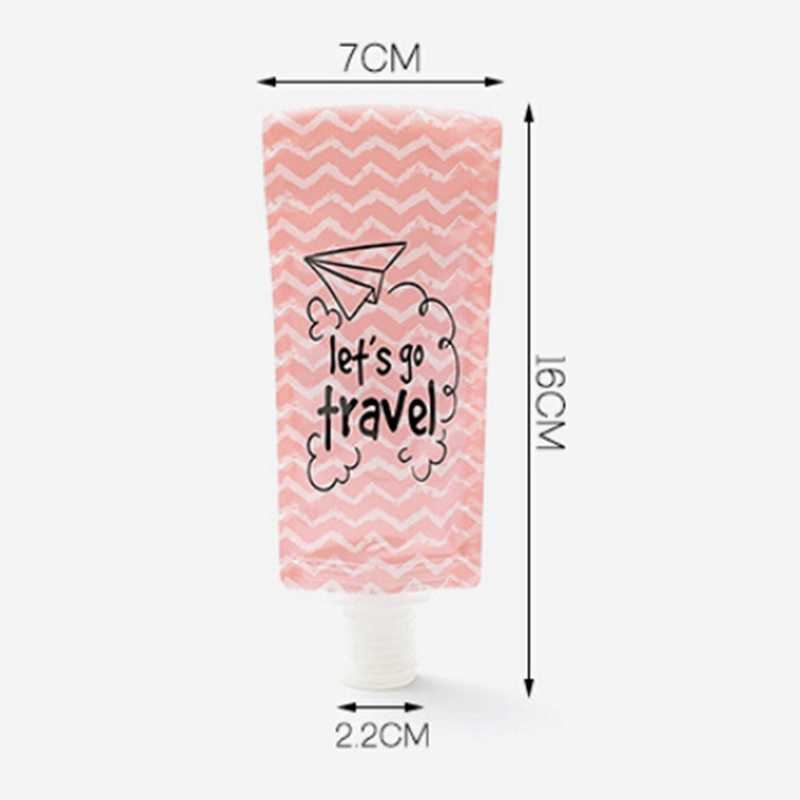 Seyahat Katlanır Losyonu Çantası Taşınabilir Duş Jeli Şampuan Alt Şişe Yüz Temizleyici Sıvı Emülsiyon saklama çantası