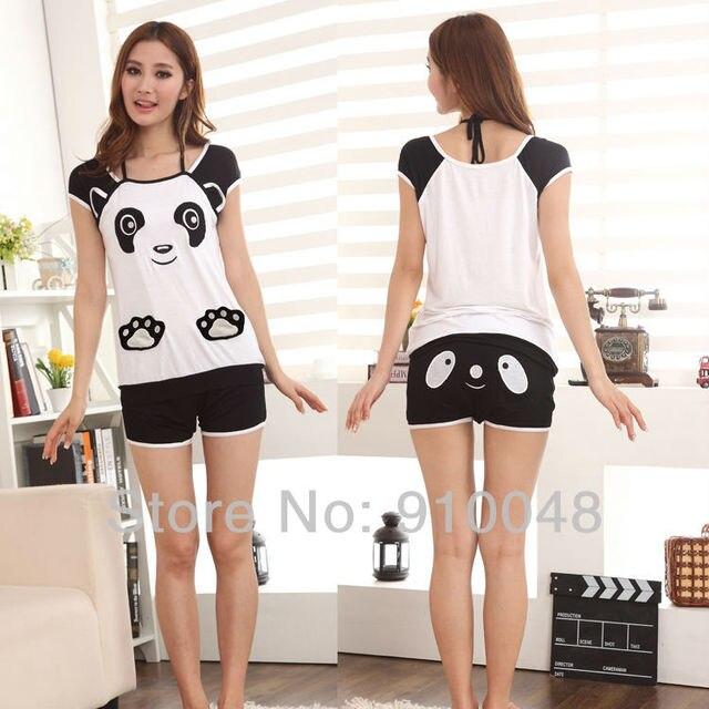 2015 new women bear embroidery modal pajamas women. Black Bedroom Furniture Sets. Home Design Ideas