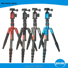 Light weight colorful carbon fiber camera tripod 5 sections professional tripod